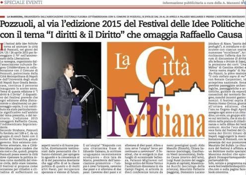 Articolo la Repubblica. Napoli (24 Aprile)